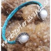 náramok  bracelet  perla a koža  fashion designer  moda a luxus