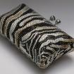 Luxusná kabelka vzor zebra Swarovski element
