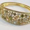 moderný náramok -swarovski elements -luxusný šperk- pozlátený 14k zlatom